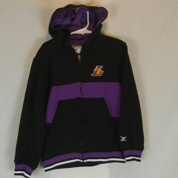 Zipaway Shirts Tops Los Angeles Lakers Size 6 Zip Up Hoodie Poshmark